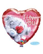 Folieballon Hart I Love You Beertje 46cm