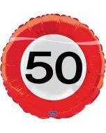 Folieballon 18 in/45 cm 50 jaar