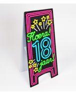 Neon Warning-Sign ( pas op ) 18 jaar