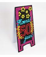 Neon Warning-Sign ( pas op ) 50 jaar