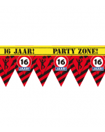 Party tape 16 jaar 12 meter