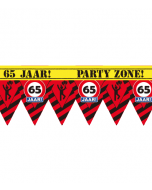 Party tape 65 jaar 12 meter