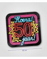 NEON Huldeschild 50 jaar