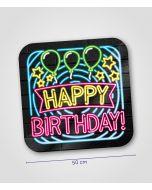 NEON Huldeschild Happy Birthday