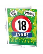 18 Jaar Raambord ( Window-sign )