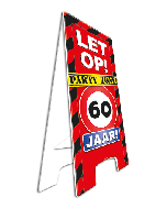 Warning Sign 60 Jaar