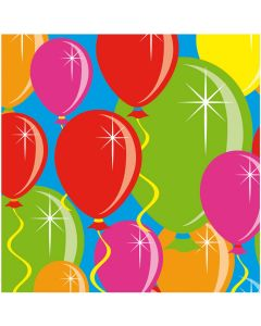 Servetten balloons - 25 x 25 cm - 20 stuks