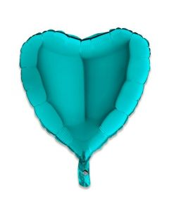 Folieballon Hart Groen - 46CM