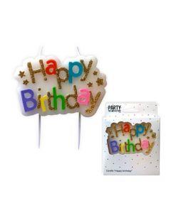 Kaarsje Happy Birthday