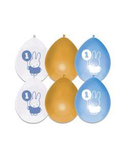 1 Jaar - Ballonnen Nijntje Blauw
