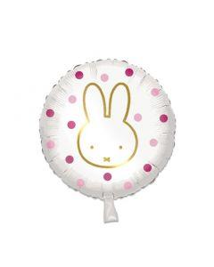 Folieballon Nijntje Rond Roze- 45CM