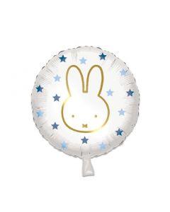 Folieballon Nijntje Rond Blauw - 45CM