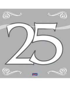 Servetten 25 Zilver