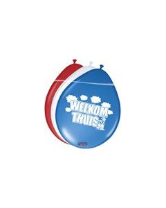 Ballon Welkom Thuis 12in / 30 cm per 8