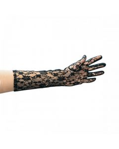 Lange Zwarte kanten handschoenen
