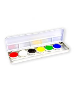 Aqua facepaintpalet bright (6 kleuren)
