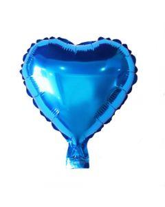 Hart Ballon Folie Blauw