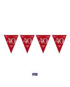Vlaggenlijn 40 Robijn 10 meter