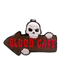 Deurbord Halloween 3D - Blood Cafe