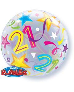 21 Jaar Doorzichtige Bubbles Ballon - 56CM