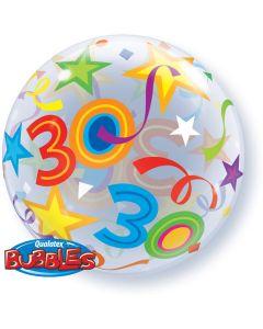 30 Jaar Doorzichtige Bubbles Ballon - 56CM