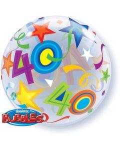40 Jaar Doorzichtige Bubbles Ballon - 56CM