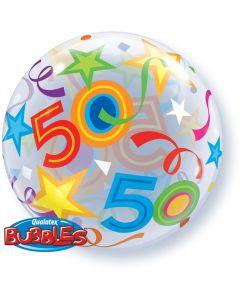 50 Jaar Doorzichtige Bubbles Ballon - 56CM