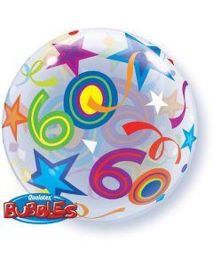 60 Jaar Doorzichtige Bubbles Ballon - 56CM