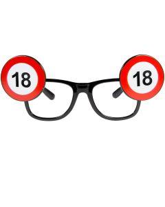 18 Jaar Verkeersbord Bril