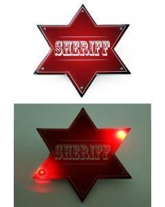 Sheriff ster rood met 6 lampjes