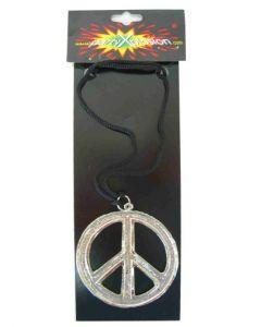 Peace ketting metaal