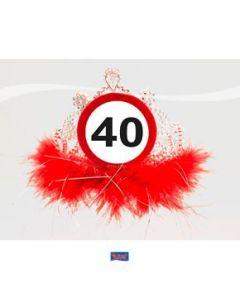 Tiara Verkeersbord 40