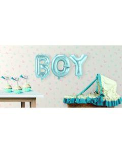 Babyblauwe Folie Ballonnen Boy
