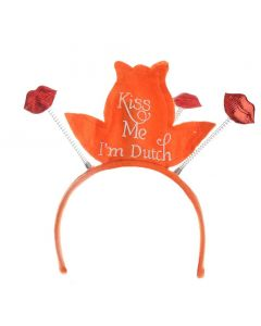 Oranje Tiara Kiss Me I'm Dutch