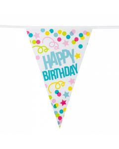 Vlaggenlijn Happy Birthday - 6 Mtr