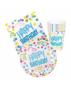Verjaardags-Tafelset Happy Birthday