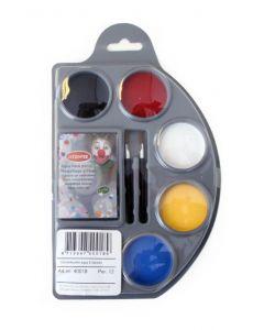 Schminkpallet aqua 6 kleuren