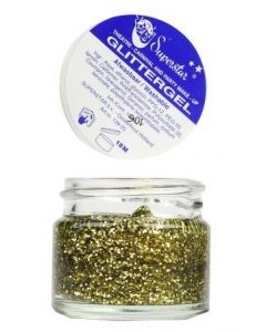 Gel Superstar Glitter Goud ( huid & Haar ) 15 ml