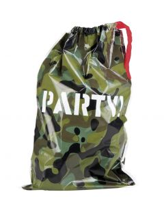 6 Party bags Camouflage 23x15cm