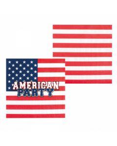 Servetten American Party 12 Stuks