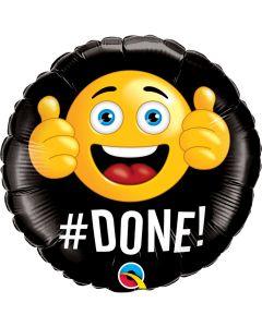 Geslaagd Folieballon 'Done!' - 46 CM