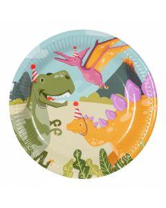 Papieren Bordjes Dino Party - 6 Stuks