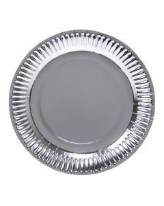 Borden Zilverkleurig Metallic 8 stuks