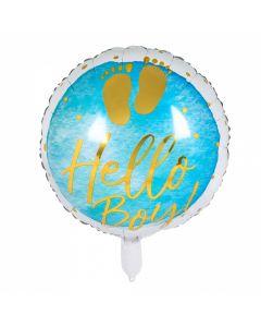 Folieballon Geboorte Jongen - Hello Boy!
