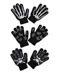 Handschoenen Skelet Zwart assorti