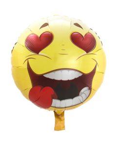 Folieballon Verliefde Emoticon - 43CM