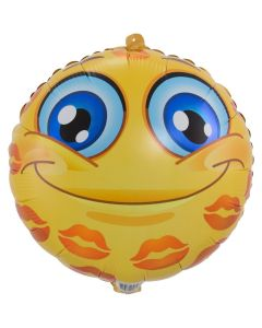 Folieballon Emoticon Kusjes - 45CM