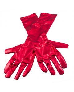 Handschoenen metallic rood ( 40 cm )