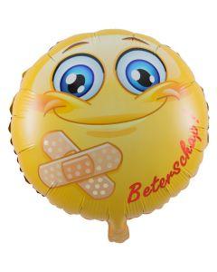 Folieballon Beterschap Smiley - 45CM