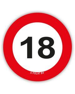 18 Jaar - XL Confetti Verkeersbord